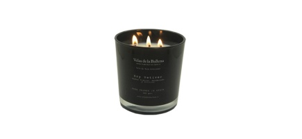 XL Soy wax scented black candle glass