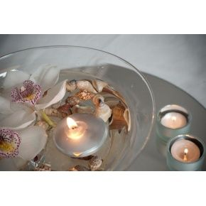 Floating candles - 4 pack metallic coated