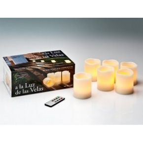 VELAS LED PACK X 6