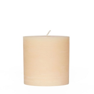 Rustic cylindrical candle 12 Ø x 12 cm. Height