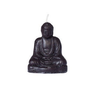 Candle Buddha meditating small