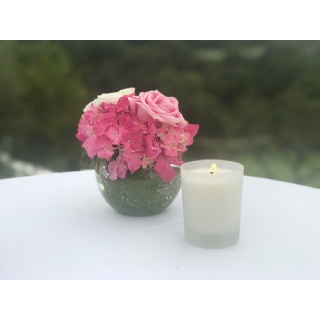 Satin Glass Soy Wax Candle