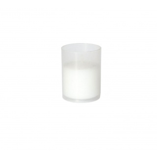 Candle in plastic cup