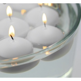 Floating candles 7 ø x 3 cm. h. - Box 80 units