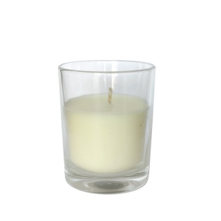 Candle in glass cup for events