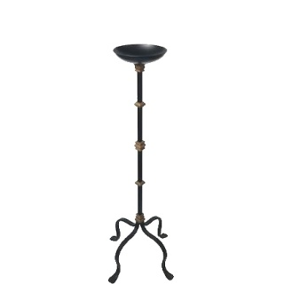103 CM. H. Four legged wrought iron stand