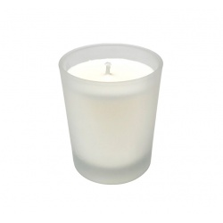 FROST GLASS VEGETABLE WAX CANDLE