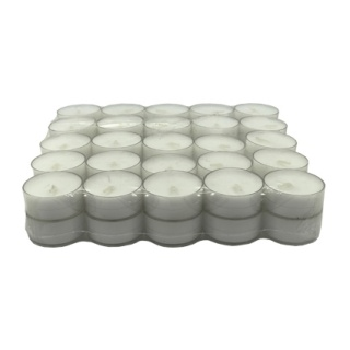 "TEALIGHT X 50 PCS ""Uncoloured Plastic base"" (4 hs.)"