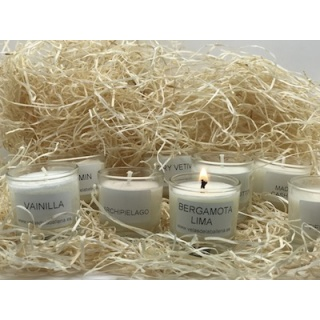 Set x 8 mini scented soy wax candles
