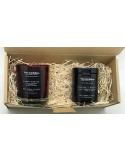 Present set x 2 scented soy wax candles