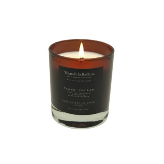 Medium Soy wax scented amber candle glass