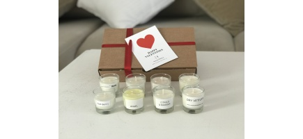 Present set x 8 mini scented soy wax candles