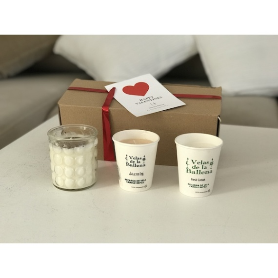 Set  of 100% scented soy candles