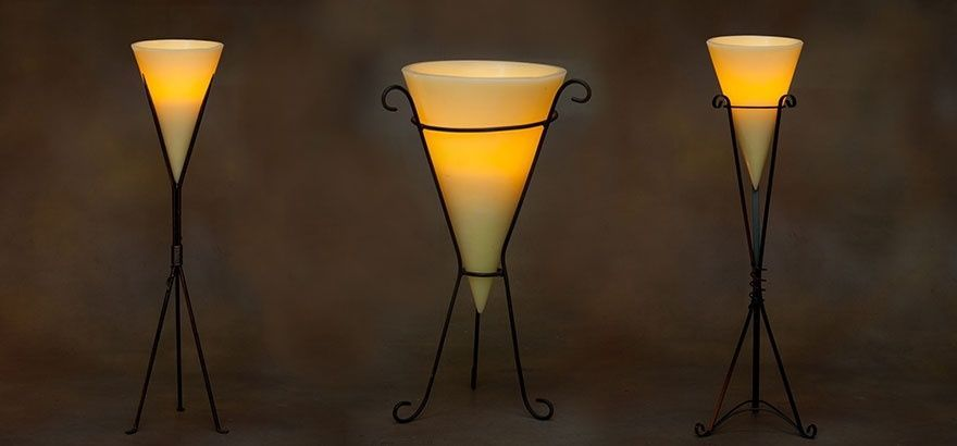 Cone Shaped wax lantern candles